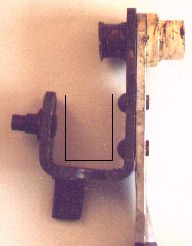 Picture of bent clutch pedal